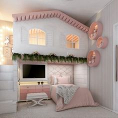 new Ideas for baby girl bedroom themes bunk bed Kids Bedroom Designs, Room Design Bedroom, Cute Bedroom Ideas, Kids Room Design, Awesome Bedrooms, Room Ideas Bedroom, Bedroom Themes, Bed Ideas, Room Decor