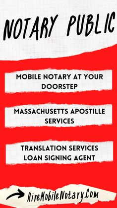 Get your documents translated, notarized and apostilled all-in-one place! Notary Service, Mobile Notary, Notary Public, Massachusetts