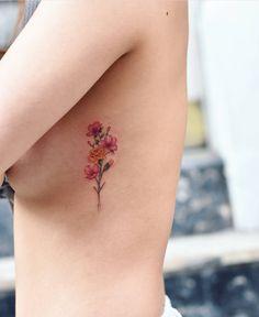 New Flowers Bouquet Tattoo Ribs 25 Ideas Carnation Flower Tattoo, Flower Tattoo On Ribs, Small Flower Tattoos, Dainty Tattoos, Pretty Tattoos, Beautiful Tattoos, Small Tattoos, Flower Bouquet Tattoo, Tattoo Flowers