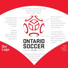 New Logo and Identity for Ontario Soccer by Brandfire and In-house