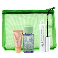Lengthen & Define: 1x High Lengths Mascara, 1x All About Eyes Serum, 1x Take The Day Off Makeup Remover, 1x Bag - 3pcs+1bag