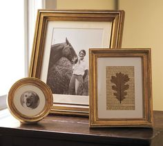 Gilded Gold Frames | Pottery Barn    Frames for Alcohol Choices at Bar?