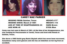 MISSING: Carey Mae Parker on GoFundMe - $580 raised by 17 people in 12 months.