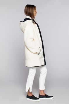 Sherpa Coat - Ivory | Emerson Fry