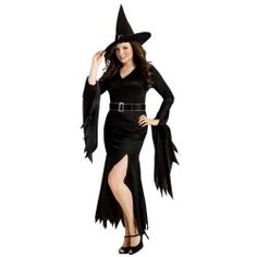 Sexy Gothic Witch. Plus Size Costume