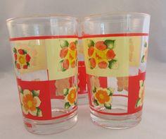 Vintage Daffodil Juice Glasses Made In Indonesia Set of 3 by timegonebyvintage. Explore more products on http://timegonebyvintage.etsy.com