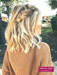 25 Stunning Medium Long Hairstyle for Your Special Moment - My Daily Pins Long Braided Hairstyles, Fishtail Braid Hairstyles, Prom Hairstyles For Short Hair, Teenage Hairstyles, Fishtail Braid Wedding, Fishtail Braid Styles, Messy Fishtail Braids, French Hairstyles, Hairstyles For Medium Length Hair Easy