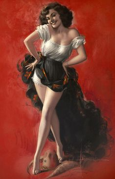 Strikingly pretty! #pinup #girl #vintage #art