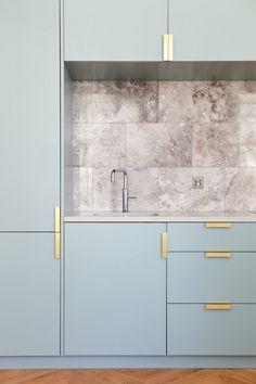 Architecture / Home / Rénovation / Colors / Appartement / Londres / Détails / Gold
