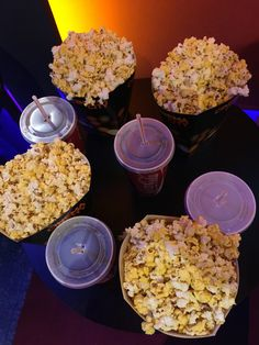 Movie-coke-popcorn w/family