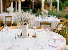 birch wedding centerpieces // via ruffledblog.com