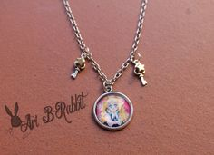 Bunny Tsukino [Sailor Moon] Necklace with stars and keys HANDMADE by AriBRabbitStore on Etsy