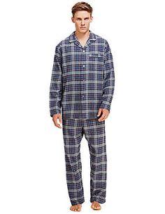 Brushed Cotton Thermal Checked Pyjamas