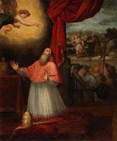 Vision of Pope Innocent III on the arrival of Saint John Of Matha and Saint Felix Of Valois / Visión del papa Inocencio III sobre la llegada de San Juan de Mata y San Félix de Valois // End of the 16th century - First third of the 17th century // Vicente Carducho // #SaintJeanDeMatha #SaintFélixdeValois
