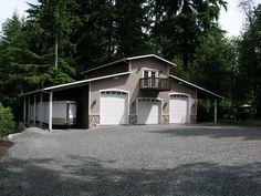 Beautiful 3 Bay Garage Pole Building | Sheds & Outbuildings ...