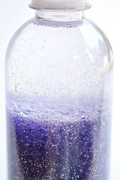 This anti-gravity galaxy in a bottle is such a FUN PROJECT to try with the kids! The glitter actually rises to the top, instead of settling to the bottom! So cool and so beautiful to watch!