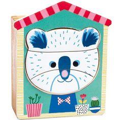 Djeco - puzzel dierenkoppen - Face Mix +2jr 18st  #toys  #djeco #sinterklaas #littlethingz