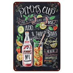 Chalkboard Print, Chalkboard Designs, Farm Kitchen Ideas, Cocktail Menu, Cocktail Recipes, Lily And Val, Colorful Cocktails, Fun Drinks, Beverages