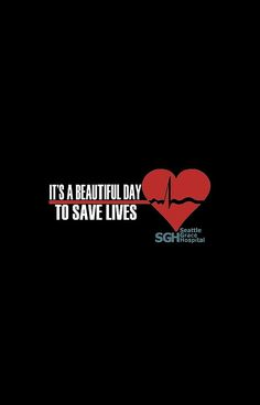 Grey's Anatomy - It's a Beautiful Day to Save Lives