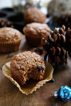 Gingerbread Chocolate Chip Muffins by lexicleankitchen #Muffins #Gingerbread #Chocolate