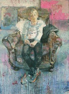 Max in the studio - Christos Tsimaris - contemporary Greek artist -