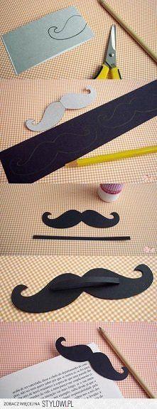 Marque page moustache