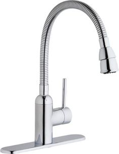 Elkay Pursuit Laundry/Utility Faucet with Flexible Spout Forward Only Lever Handle Chrome Utility Sink Faucets, Silver Ceiling Fan, Laundry Tubs, Laundry Rooms, Chandelier Floor Lamp, Commercial Faucets, Mobile File Cabinet, Water Spout, Home Improvement