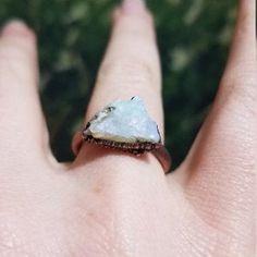 Raw opal ring Australian opal ring Rough opal ring Raw | Etsy Silver Claddagh Ring, Claddagh Rings, Raw Opal Ring, Opal Rings, Copper Rings, Silver Rings, Tiny Studio, Rough Opal, Australian Opal