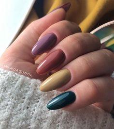 Fall Nail Art, Autumn Nails, Spring Nails, Stylish Nails, Trendy Nails, Cute Nails, Nail Designs Spring, Toe Nail Designs, Green Nail Designs