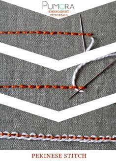 Pumora's embroidery stitch-lexicon: the pekinese stitch