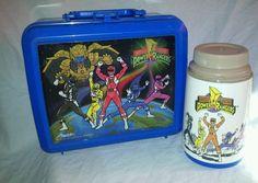 Mighty Morphin Power Rangers Plastic Lunch Box With Thermos Aladdin 1993 #MightyMorphinPowerRangers #PowerRangers