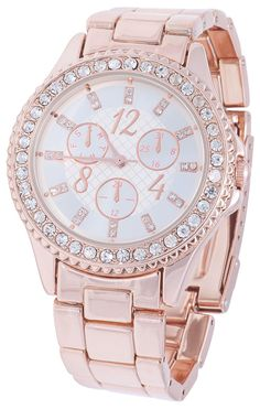 Watch in rosegold with rhinestones - Bijou Brigitte - Online-Shop