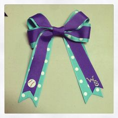 District 6 All-stars Inspired Hair Bow $13 http://www.etsy.com/listing/155510385/district-6-allstars-inspired-softball