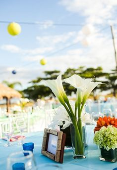 Table Decor Tip: Photo by A Brit & A Blonde on Every Last Detail #table #decor #wedding #details
