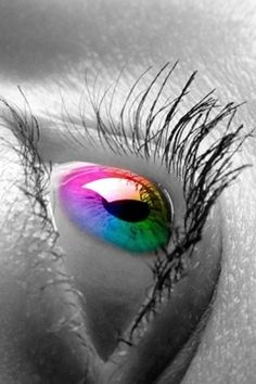 Eyes are my favorite thing on a person <3 how schweet wud it be to have rainbow eyes?