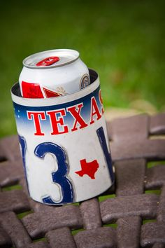Texas License Plate Coozy by 3 Sisters Design Co.