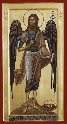 Byzantine Icons, Byzantine Art, Faith Of Our Fathers, Pictures Of Jesus Christ, Masonic Symbols, Archangel Michael, John The Baptist, Art Base, Mosaics