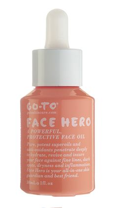 Go To Face Hero, the superhero of face oils. With a beautiful, arse-kicking blend of ten powerful oils, Face Hero protects your skin from evil aggressors, rapidly boosts your hydration levels, and will make your face look and feel more amazing than four Instagram filters and a cheeky skin blur.
