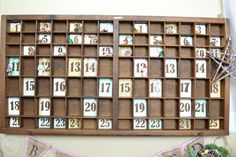 printers tray advent calendar