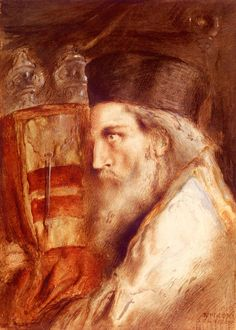 Solomon Simeon A Rabbi Holding The Torah Simeon Solomon (1840 1905)