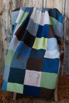 upcycled wool blanket by AKOSUAbyReginaKusche on Etsy, $220.00