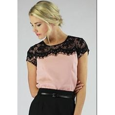 Lace Shoulders Sister Missionary Top - Cropped