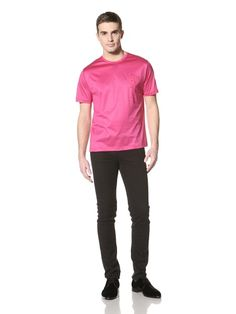 66% OFF Versace Collection Men's Embroidered Tee (Pink)