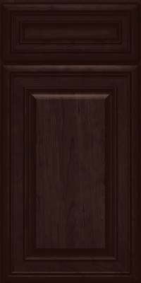 KraftMaid Cabinets -Square Raised Panel - Solid (BLC) Cherry in Peppercorn from waybuild