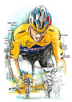 Cycling Art, Climbers, Super, Simple, Illustration, Sports, Poster, Cycling, Bicycles