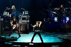 Bon Jovi is an American rock band from Sayreville, New Jersey. Formed in 1983, Bon Jovi consists of lead singer and namesake Jon Bon Jovi (John Francis Bongiovi, Jr.), guitarist Richie Sambora, keyboardist David Bryan, drummer Tico Torres, as well as current bassist Hugh McDonald.[