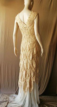 Crochet wedding gown https://www.facebook.com/Crochetfit