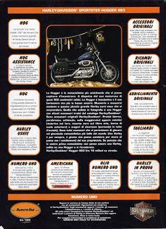 The Legend of HARLEY DAVIDSON SPORSTER: 883 hugger - 1996 Harley Davidson 883, Best Bike Shorts, Biker T Shirts, Motorcycle Gear, Chopper, Choppers
