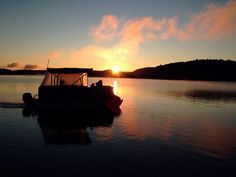 An early morning boat ride to the government dock to pick up new arrivals. Just one of the adventures of a cottage on and island (Little Hawk Lake, Ontario, Canada).