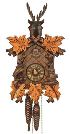 Anton Schneider 1-Day Carved Deer Cuckoo Clock 81-9